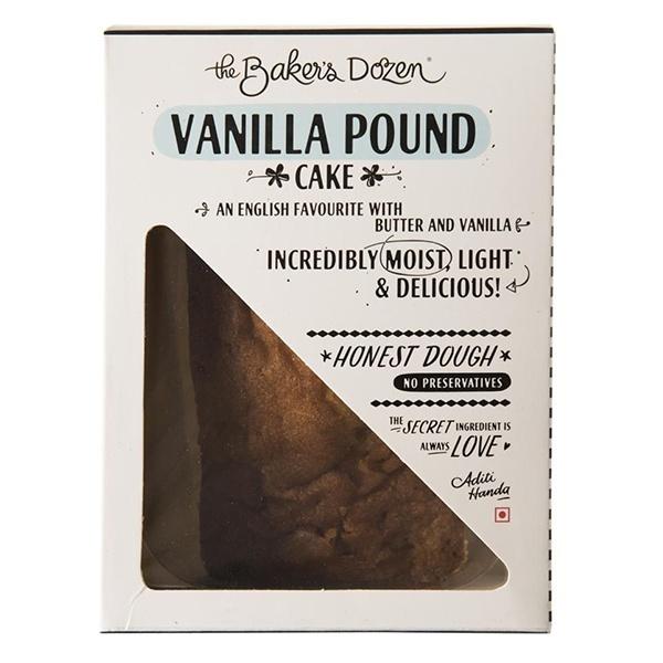 The Baker's Dozen Pound Cake Vanilla 140gm