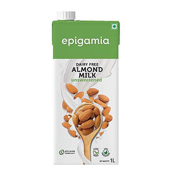 Epigamia Chocolate Almond Milk Unssweetend 1 Ltr