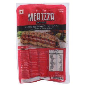 Buy Meatzza Chicken Jumbo Hot Dog 500 gm Online