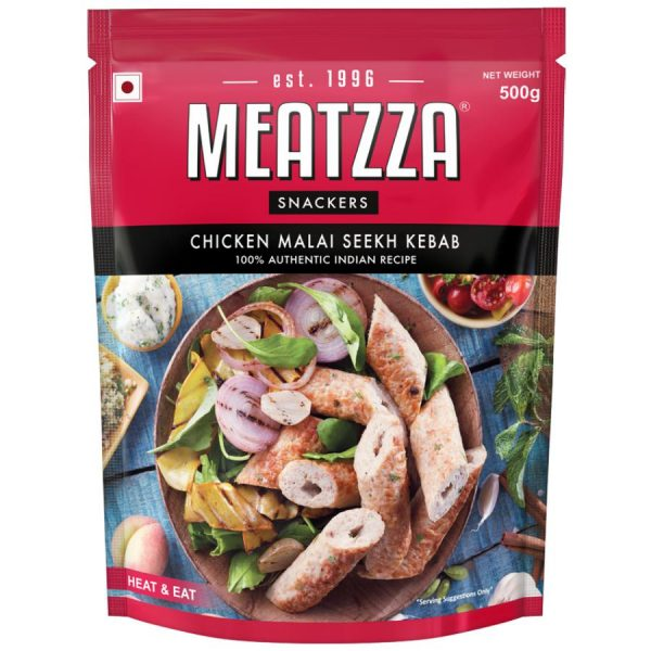 Buy Meatzza Chicken Malai Seekh Kebab 500 gm Online