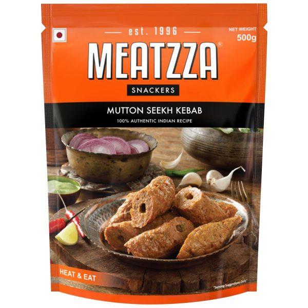 Buy Meatzza Mutton Seekh Kebab 500 gm Online