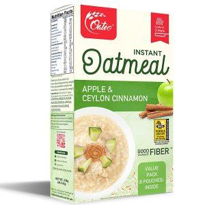 Oateo Oatmeal Apple & Cinnamon 258gm