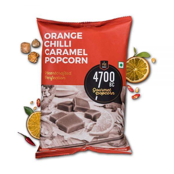 4700BC Orange Chilli Caramel Popcorn 125gm